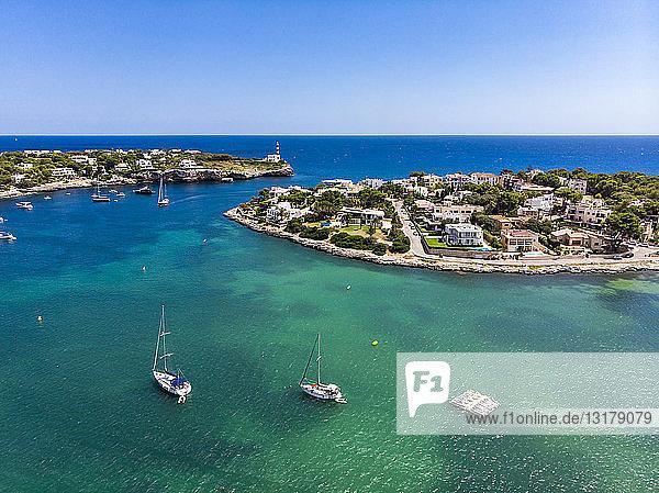 Spain  Baleares  Mallorca  Portocolom  Punta de ses Crestes  Bay of Portocolom