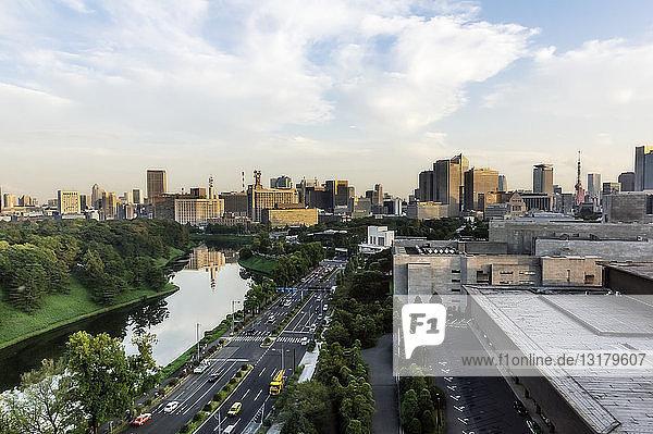 Japan  Tokio  Bezirk Chiyoda  Stadtansicht