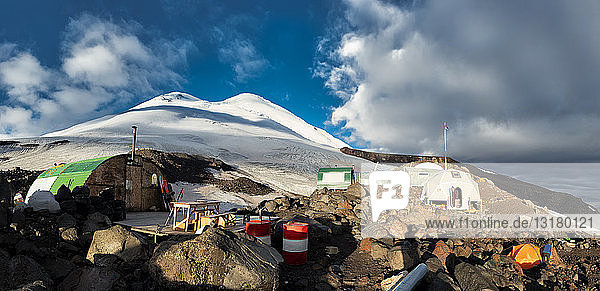 Russia  Upper Baksan Valley  Caucasus  Mount Elbrus North Camp