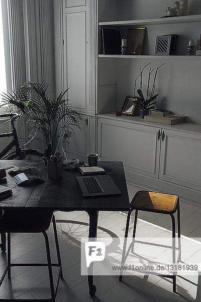Modern workspace in a flat