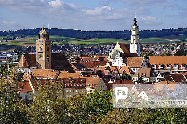 Deutschland  Bayern  Schwaben  Donau-Ries  Donauwörth  Liebfrauenkirche und Benediktinerkloster