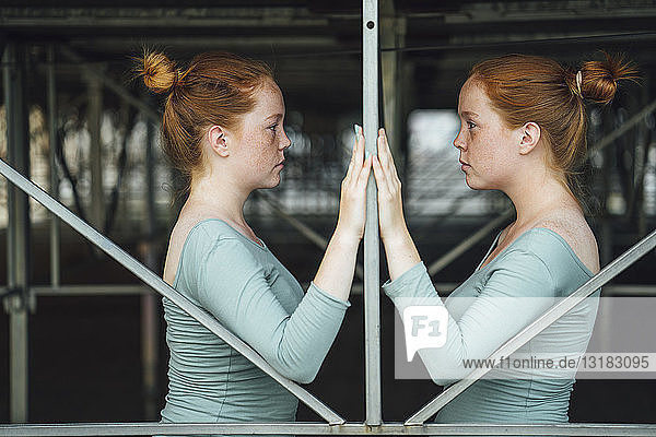 Redheaded twins  face to face