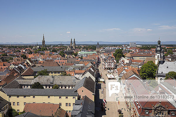 Germany  Rhineland-Palatinate  Speyer  cityview  Maximilianstrasse
