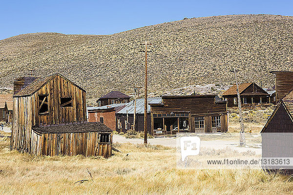 USA  California  Sierra Nevada  Bodie State Historic Park  gold mining town