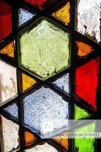Buntglasfenster  Vollrahmen