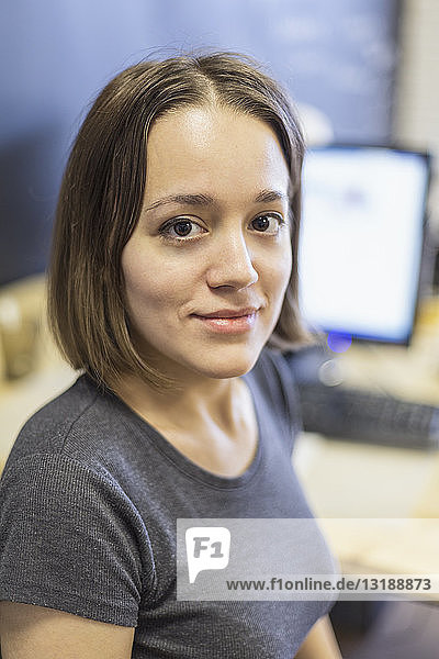 Porträt selbstbewusste Geschäftsfrau