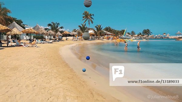 Meteor Landing on Tropical Beach  CGI Effect