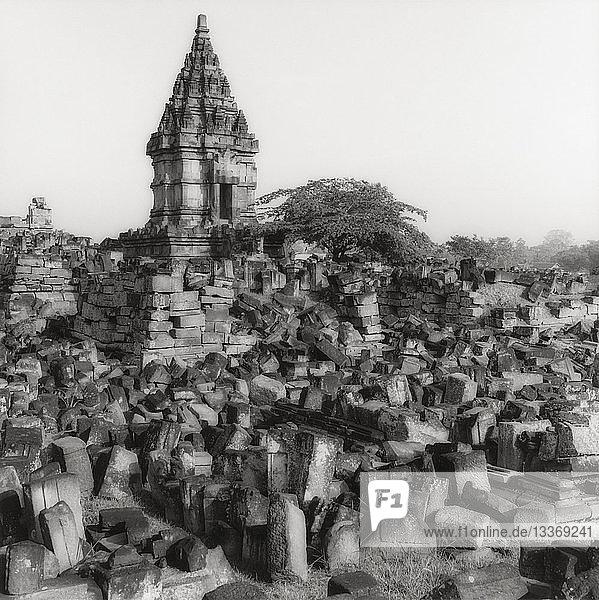 Ruinen des Prambanan-Tempels in Indonesien