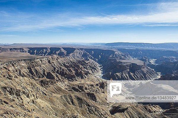 Blick über den Fish River Canyon  Namibia  Afrika