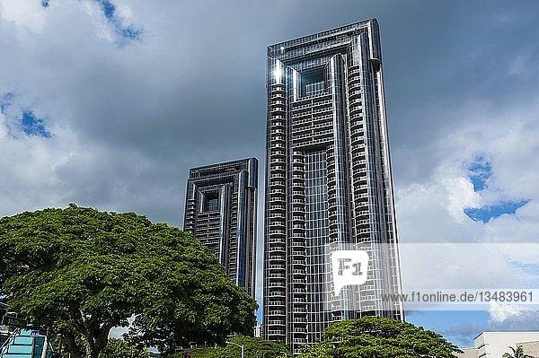Hochhaus in der Innenstadt von Honolulu  Oahu  Hawaii  USA  Nordamerika