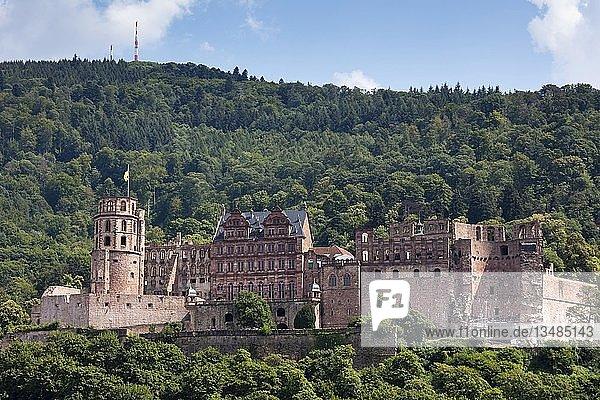 Heidelberger Schloss  Schlossruine  Heidelberg  Baden-Württemberg  Deutschland  Europa