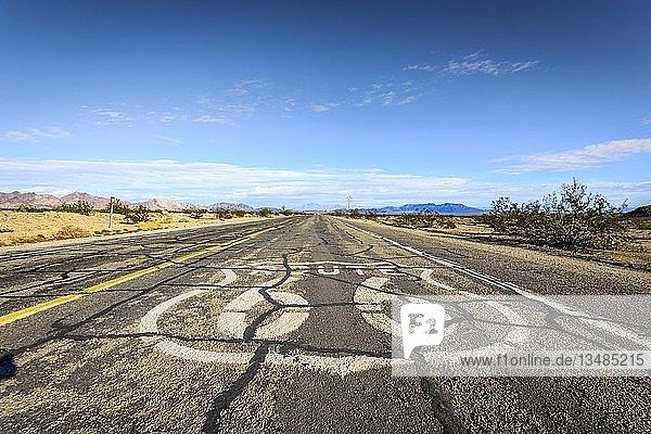 Historic Route 66  Ludlow  California  USA  North America