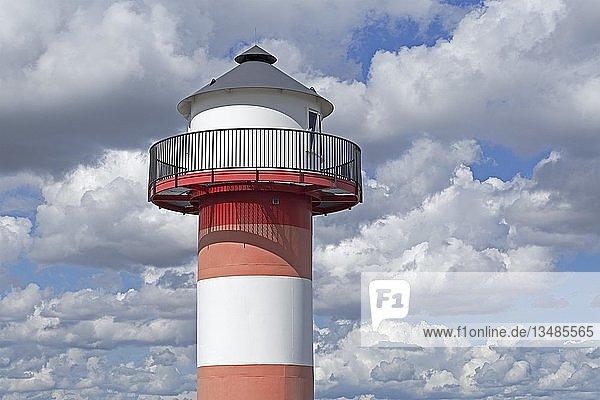Leuchtturm  Grünendeich  Altes Land  Niedersachsen  Deutschland  Europa