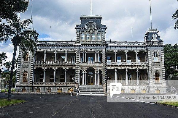 Iolani-Palast  Honolulu  Oahu  Hawaii  USA  Nordamerika