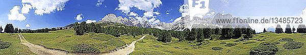 360° Panorama Seceda Hochebene  Grödnertal  Italien  Europa