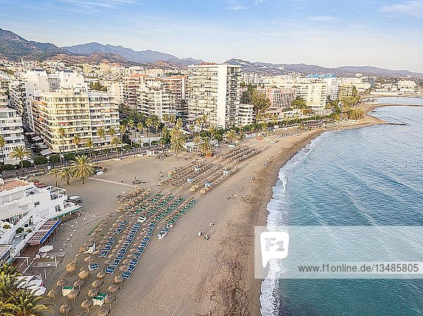 Aerial view of costa del sol in Marbella  Andalusia  Spain  Europe