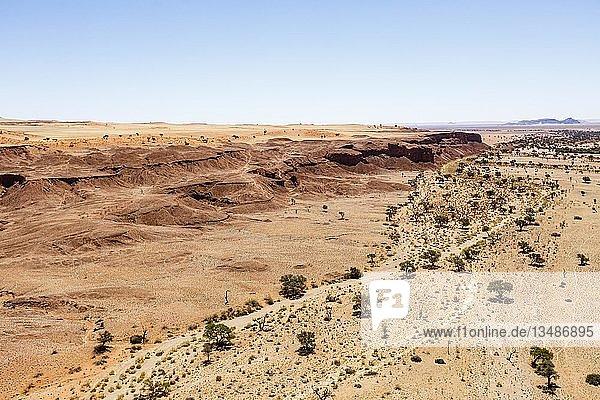 Luftaufnahme  versteinerte Dünen  Namib-Desert-Lodge  Namib-Wüste  Namib-Naukluft-Nationalpark  Namibia  Afrika