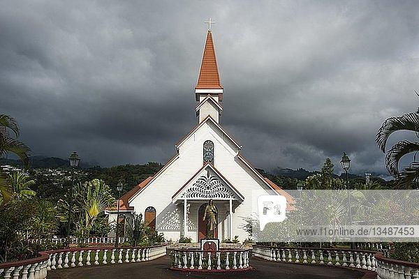 Erste Kirche des heiligen Herzens  auch La première église du Sacré-coeur  Tahiti  Französisch-Polynesien  Ozeanien