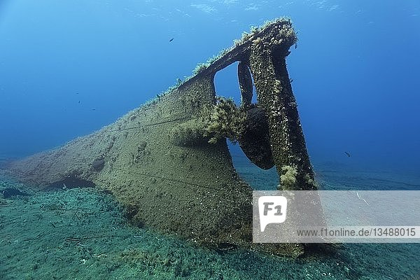 Archilleas Wrack  Heck  Propeller  Paphos  Mittelmeer  Südzypern  Zypern  Europa