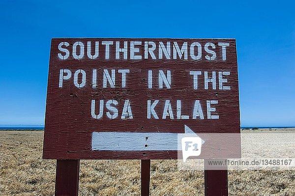Kalae  South Point  südlichster Punkt der USA  Big Island  Hawaii  USA  Nordamerika