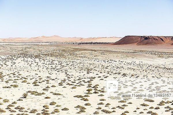 Luftaufnahme  trockene Tsondab-Pfanne  Tsondabvlei  Namib-Wüste  Namib-Naukluft-Nationalpark  Namibia  Afrika
