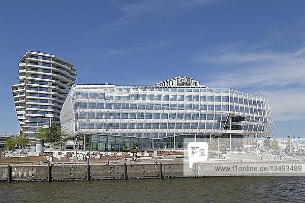 Marco-Polo-Turm und Unilever-Haus  HafenCity  Hamburg  Deutschland  Europa