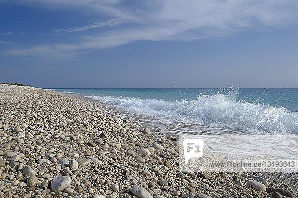 Strand von Palasa  bei Dhërmi  Albanische Riviera  Ionisches Meer  Qark Vlora  Albanien  Europa