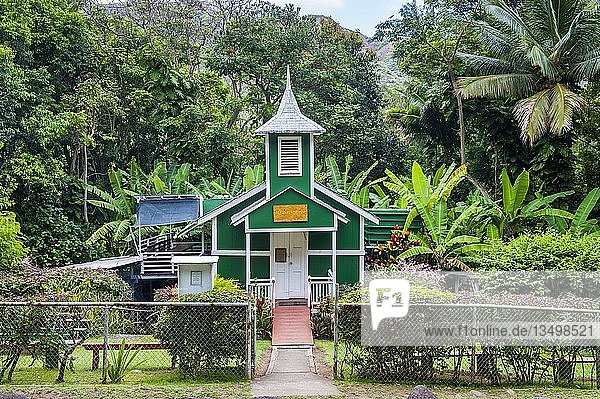 Winzige Ierusalema Hou Kirche  Halawa  Insel Molokai  Hawaii  USA  Nordamerika