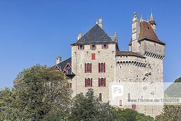 Château de Menthon-Saint-Bernard  Haute-Savoie  Frankreich  Europa