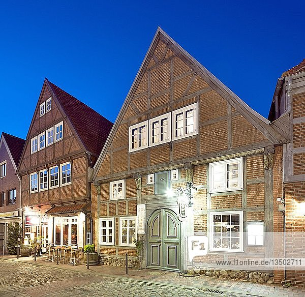 Historische Bürgerhäuser  Abtstraße  Altstadt  Buxtehude  Niedersachsen  Deutschland  Europa