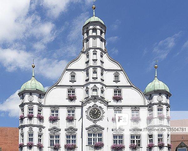 Memminger Rathaus von 1589  Renaissance  Memmingen  Schwaben  Bayern  Deutschland  Europa