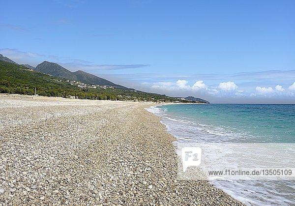 Strand von Drymades  Dhërmi  bei Himara  Himarë  Albanische Riviera  Ionisches Meer  Qark Vlora  Albanien  Europa