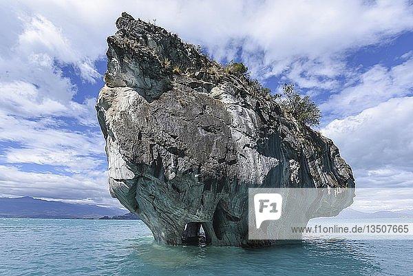 Capilla de Mármol  Marmorkapelle  Marmorhöhle  Cuevas de Marmol  Lago General Carrera  Puerto Rio Tranquilo  Región de Aysén  Chile  Südamerika