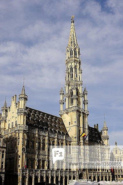 Rathaus Hotel de Ville am Grand-Place Grote Markt  Brüssel  Belgien  Europa