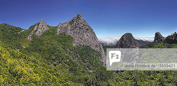 Roque Agando  La Gomera  Kanarische Insel  Spanien  Europa