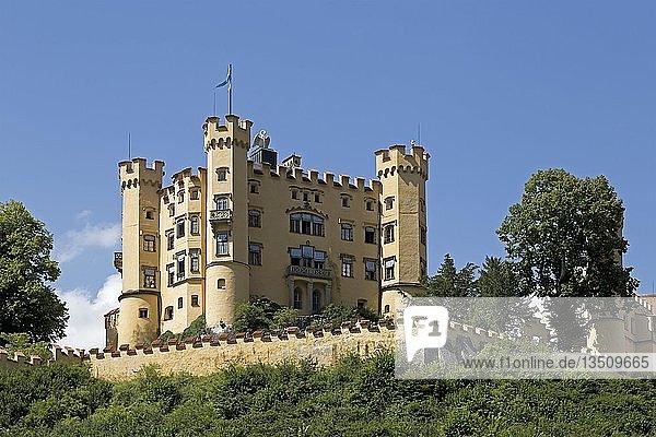 Schloss Hohenschwangau  Hohenschwangau  Allgäu  Bayern  Deutschland  Europa