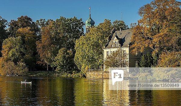 Havel  Klein Glienicke im Herbst  Kanu  Potsdam  Brandenburg  Deutschland  Europa