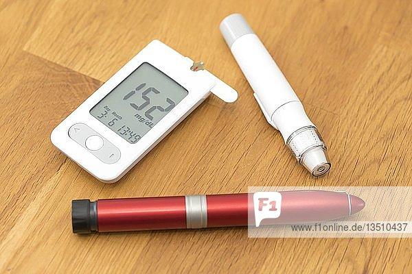 Diabetes  Blutzuckermessgerät  Stechhilfe und Insulinpen  Deutschland  Europa