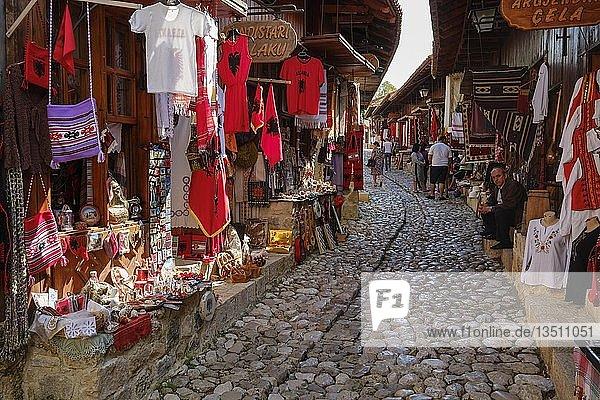 Basarstraße  Kruja  Krujë  Qark Durrës  Qark Durres  Albanien  Europa