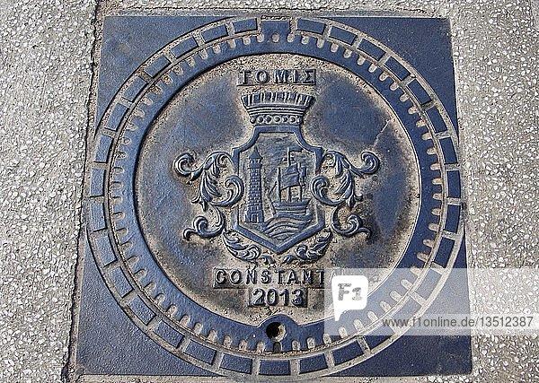 Kanaldeckel  Constanta  Rumänien  Europa