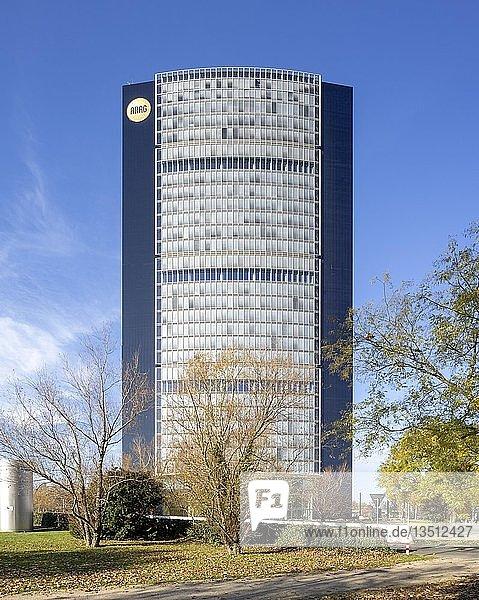ARAG-Tower  Hauptverwaltung der Versicherung ARAG  Architekt Norman Foster  Mörsenbroich  Düsseldorf  Rheinland  Nordrhein-Westfalen  Deutschland  Europa