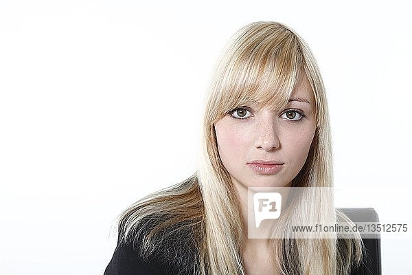 Young blonde woman  portrait
