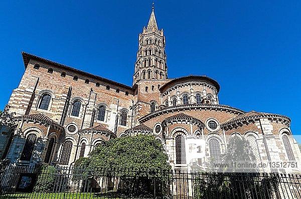 Roman basilica Saint-Sernin of Toulouse  Haute Garonne department  Occitanie  France  Europe