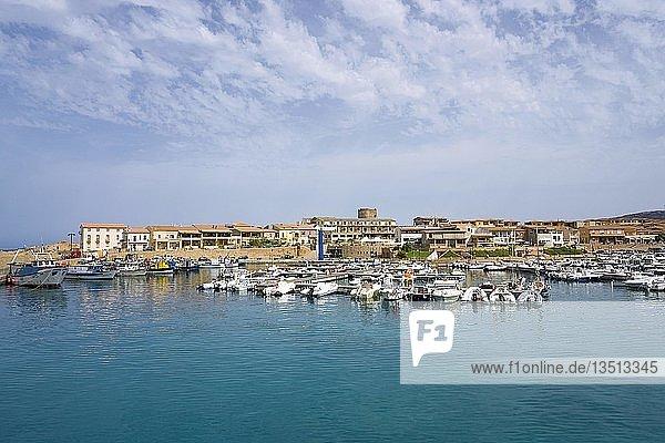 Fischerhafen und Marina  Ortsteil Isola Rossa  Trinità d?Agultu e Vignola  Provinz Sassari  Sardinien  Italien  Europa