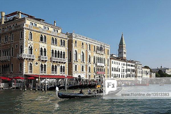 Canal Grande mit Hotel Bauer Palazzo  Venedig  Venetien  Italien  Europa
