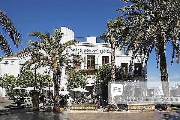 Plaza de España  Vejer de la Frontera  Provinz Cádiz  Andalusien  Spanien  Europa