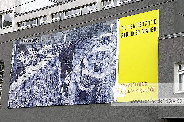 Gedenkstätte Berliner Mauer in der Bernauer Strasse in Berlin  Deutschland  Europa