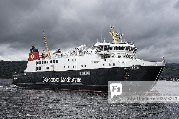 Das Fährschiff Finlaggan  Fähre zwischen Schottland und der Insel Isle of Islay  Tarbert  Argyll and Bute  Schottland  Großbritannien  Europa
