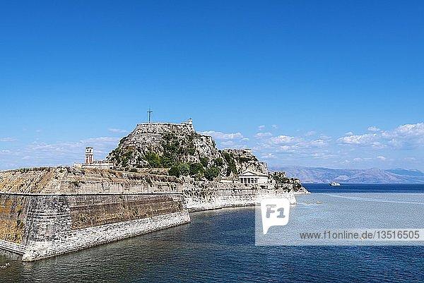 Alte Festung,  Kerkyra,  Insel Korfu,  Ionische Inseln,  Griechenland,  Europa