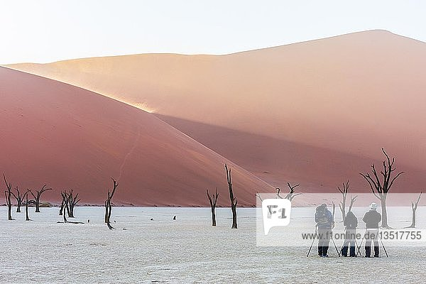 Naturfotografen im Deadvlei  Sossusvlei  Namibia  Afrika